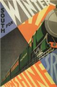 Vintage English railway poster - Southern Railways 1929